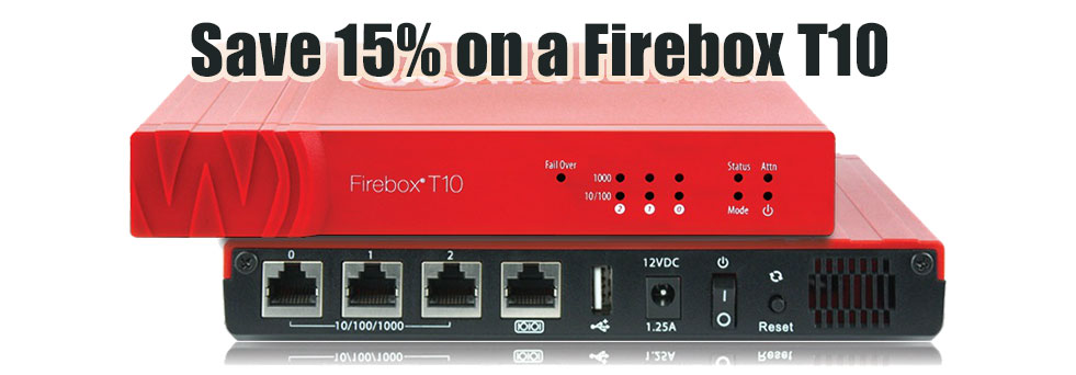 Save 15% purchasing a new Firebox T10 - wired or wireless