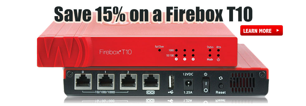 Buy a Firebox T10 at 15% off!