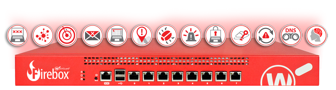WatchGuard Firebox with all Security Service Icons